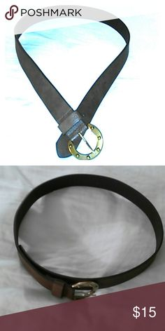 BELT 43' inches in LENGTH A large size brown leather belt.  (Has never been worn).  43' inches in length, including the buckle. KOHL'S  Accessories Belts