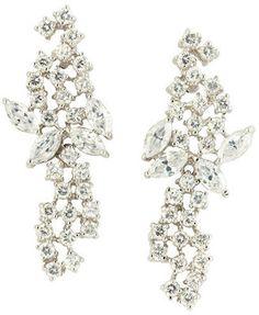ShopStyle: CZ by Kenneth Jay Lane Mini Mosaic Cubic Zirconia Earrings