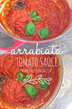 Classic Arrabiata Tomato Sauce made with sweet San Marzano Tomatoes   CiaoFlorentina.com