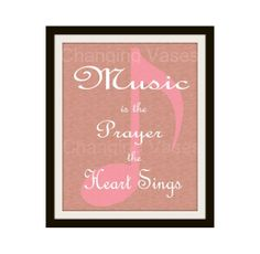 Instant Download Music Quote Music Note Wall Art by ChangingVases, $5.00