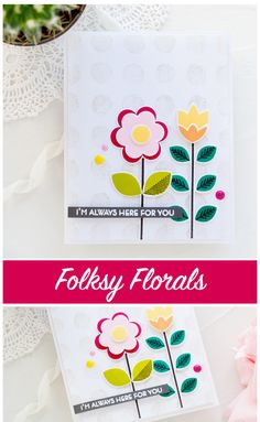 Folksy floral handmade card by Debby Hughes using new Altenew stamps and dies. Find out more: http://limedoodledesign.com/2018/04/altenew-april-2018-stamp-die-release-blog-hop-giveaway/