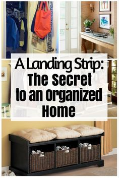 A Landing Strip: The Secret to an Organized Home - http://www.thebudgetdiet.com/landing-strip-organized-home?utm_content=snap_default&utm_medium=social&utm_source=Pinterest.com&utm_campaign=snap