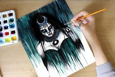 Enchantress Watercolor Speed Painting…                                                                                                                                                                                 More