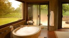Luxurious lodge in the Sabi Sabi Game Reserve