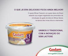 Queijo Minas Frescal Sem Lactose é Godam!!! Acesse nosso site: www.godam.com.br