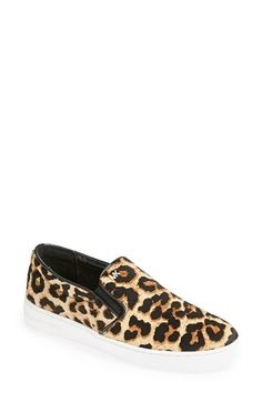 Free shipping and returns on MICHAEL Michael Kors 'Keaton' Slip-On Sneaker (Women) at Nordstrom.com. Lavish cheetah-print calf hair provides a street-savvy upgrade for a contemporary slip-on sneaker.