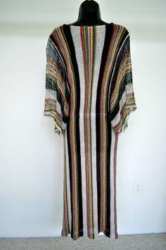 Vintage 70s Missoni crochet Kaftan Dress by vintagelemonde on Etsy