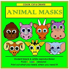 Animal Masks | Edworld Exchange | Where Educators Buy and Sell Resources