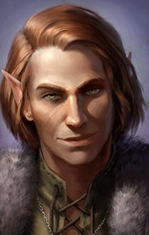Male elf c (Pillars of Eternity character art)