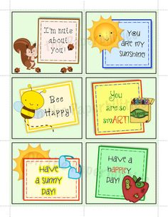 DIGITAL lunchbox notes.  Everyday pack 1.  Great encouragement for your children.  Lunch box