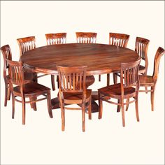 Peoria Solid Wood Square Dining Table & Chair Set For 8