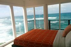 Sea Cliff House - Oceanfront - 30 Day Stays - Townhouses for Rent in Laie, Hawaii, United States Hawaii Honeymoon, Hawaii Vacation, Oahu Hawaii, Oahu Luau, Hawaii Wedding, Design Hotel, Ocean Front Homes, Beach House Bedroom, Townhouse For Rent