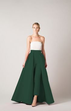 Silk Faille Cigarette Pants with Convertible Skirt  Alexia Maria #convertible #convertible #skirt