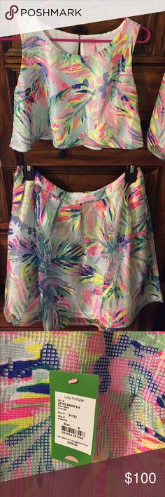 nWT Lilly Pulitzer crop set Size 6 Lilly Pulitzer Tops