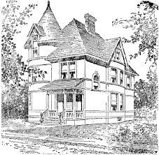 Image result for Printable coloring pages for adults/ Victorian Houses