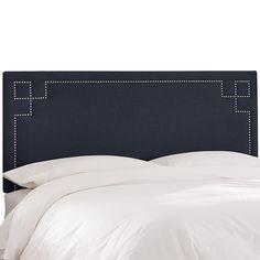 Skyline Furniture Nail Button Headboard - Queen - Blue