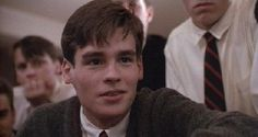 Neil Perry (by Robert Sean Leonard)- the inspiring, passionate leader, tragically trapped by his own worst fears of facing his father...