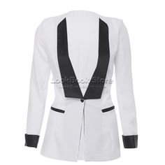 suit jackets for women | Women Chic Contrast Neon Candy Color Lapel Long Sleeved Suit Blazer ...