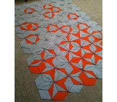 Modular felt rug - great design!