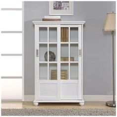 Elegant Book Cabinet with Sliding Doors