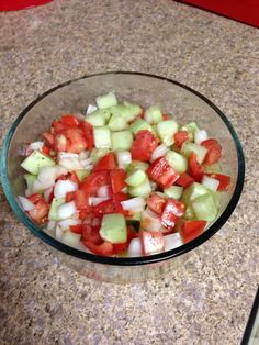 How to Make Cucumber, Tomato and Onion Salad.