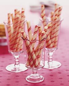 Candy-Stripe Cookie Sticks for #Christmas - Martha Stewart Recipes