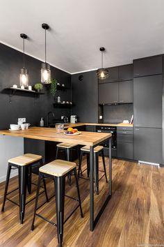 Modern Kitchen Design, Modern House Design, Interior Design Kitchen, Home Decor Kitchen, Kitchen Furniture, Small Kitchen Plans, Kitchen Measurements, Home Trends, Design Moderne