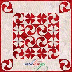 Inklingo Yin Yang with Winding Ways Quilt Blocks
