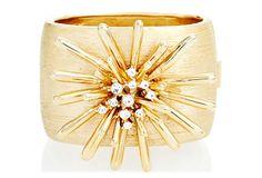 Starburst Bracelet by Ciner $389 Czech glass stones/Swarovski stones/18kt gold overlay on white metal...on OneKingsLane.com