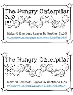Newly Revised!!  Hungry Caterpillar Make 10 Emergent Reader.  To celebrate I'm offering it FREE for 24 hours!