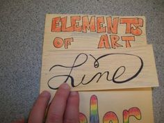 Elements of Art FOLDABLES: I need some variety in my elements & principles review every year...could maybe turn this into a VVJ assignment.