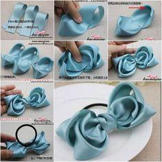 Image result for ribbon flower making