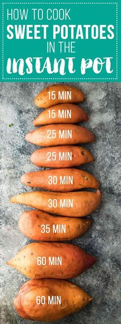 How To Cook Sweet Potatoes in The Instant Pot