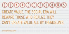 Create value and create connections by @socialerarules  #socialmediamarketing #socialmedia  #socialmediatips #quotes #seo #webmarketing