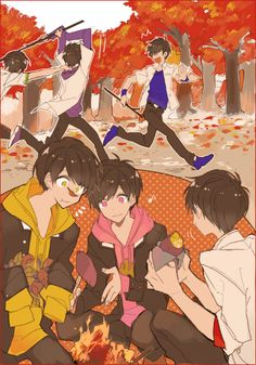 Find images and videos about anime, osomatsu-san and osomatsu san on We Heart It - the app to get lost in what you love. Anime Demon, Manga Anime, Anime Art, Anime Boy Sketch, Anime Siblings, Osomatsu San Doujinshi, Gekkan Shoujo Nozaki Kun, Comedy Anime, Ichimatsu
