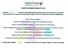 en tant que membre de la Digital Media Association France (DMAF), s'est engagée à respecter sa charte de bonne conduite et ses valeurs que nous partageons depuis toujours !