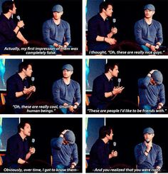 Jensen in that hat is killing me!!!