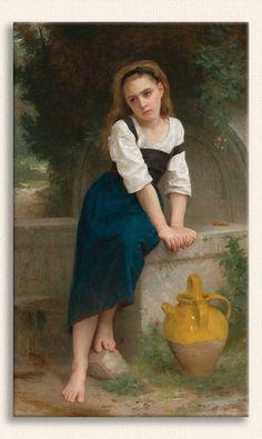 William Adolphe Bouguereau, Çeşme Başındaki Yetim Kız, Tarih: 1883