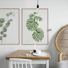 This Scandinavian style leaf art print will bring some green to your living space. Material: Canvas Medium: Waterproof Ink Frame: No Leaf Wall Art, Leaf Art, Canvas Wall Art, Wall Art Prints, Poster Prints, Fresco, Images Murales, Style Minimaliste, Modern Room