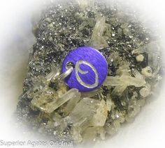 Letter O Hand Engraved Purple Personalized Small by superioragates, $4.00