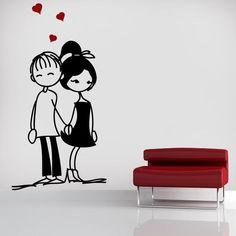 Vinilos Decorativos Románticos Enamorados
