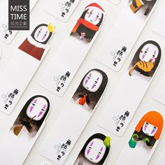 Spirited Away Kaonashi No Face Man Bookmarks ~ Page Marker, Stationery, Book Accessories, Scrapbooki Creative Bookmarks, Origami Easy, Book Gifts, Cute Wallpapers, Diy For Kids, Creative Art, Cute Art, Paper Crafts, Handicraft Ideas
