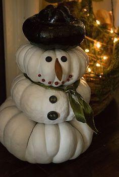 Mini Pumpkin Snowman