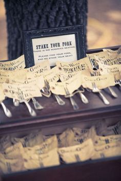 Love this idea for a creative seating chart...Will be great for my Spring Picnic Wedding!