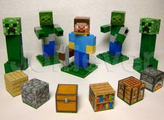 Lego Minecraft Custom Steve Character with Pickaxe 2 by TinyBricks