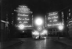 Les Galeries Lafayette (a Parisian department store that's been open since 1895), here in 1929.   14 Haunting And Magnificent Vintage Photos Of Paris At Night
