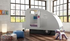 love this caravan / camping inspired bed!  See details at http://www.houzz.com/photos/20478049/Camping-Themed-Kids-Bedroom-Lifestyle-modern-kids-south-west