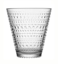 Kastehelmi 10 Oz Tumbler or Glass Set of 2 By Iittala (clear) by Iittala. Kastehelmi Tumbler Gold Glass Set of iittala (Clear). Wine Glass Set, Clear Glass, Gold Glass, Design Transparent, Clear Tumblers, Verre Design, Drinking Glass, Glass Birds, Glass Collection