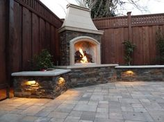 30 Ideas for Outdoor Fireplace and Grill  . Love the sides and and the sides, but not the top so much