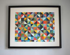 DIY: Paint Chip Art; loving geometric right now!